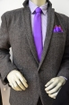 A serious career look refreshed with a vibrant colour! Geoffrey Beene Necktie $55.00, Calvin Klein jacket $149.50